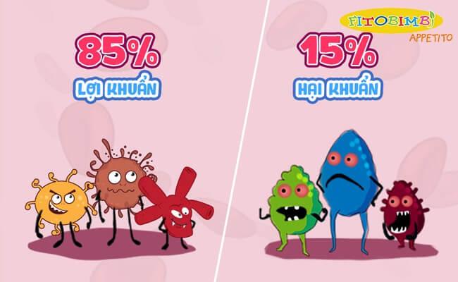 Mất cân bằng hệ vi sinh đường ruột có thể gây biếng ăn ở trẻ