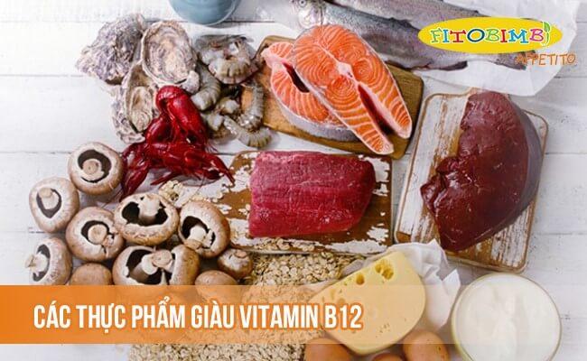 Các thực phẩm giàu vitamin B12
