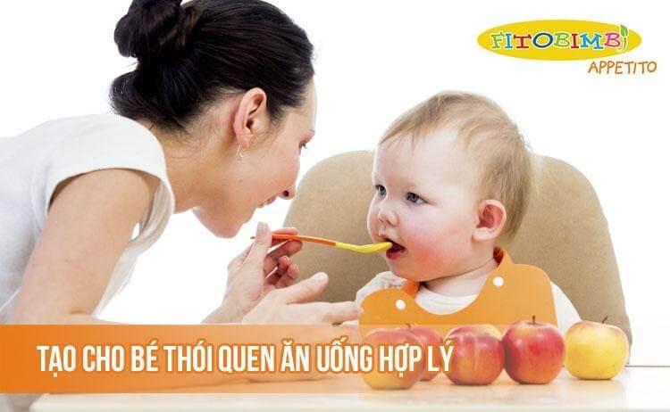 Tạo cho bé một thói quen ăn uống cố định