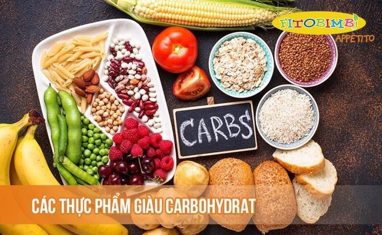 Các thực phẩm giàu carbohydrat
