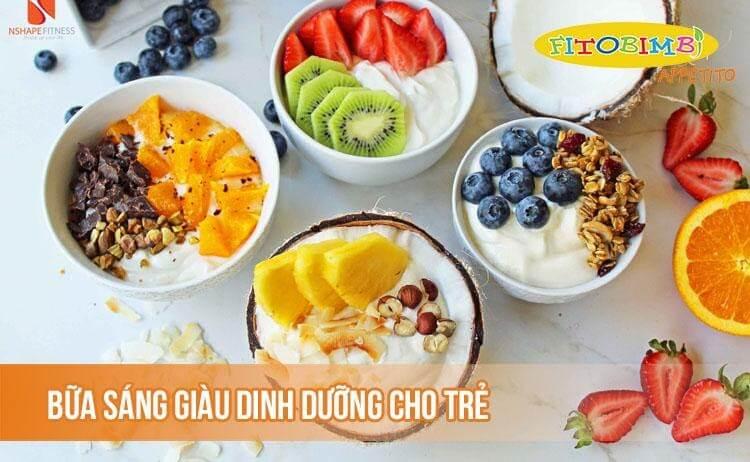 Một số gợi ý bữa sáng cho thực đơn cho bé 3-6 tuổi biếng ăn