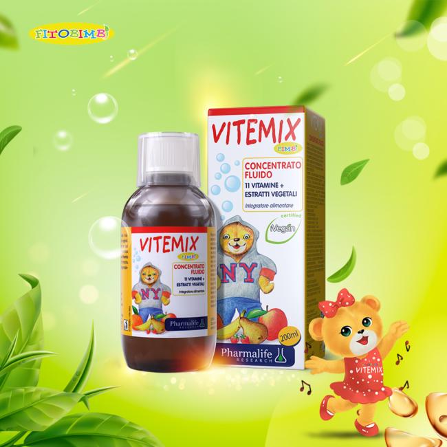 Fitobimbi Vitemix - Siro thảo dược chuẩn hóa châu Âu bổ sung vitamin cho trẻ