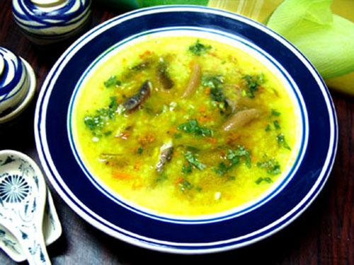 cháo lươn nấu với khoai môn cho trẻ em chậm lớn