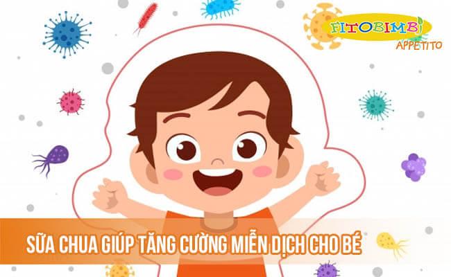 Sữa chua giúp tăng cường miễn dịch cho bé