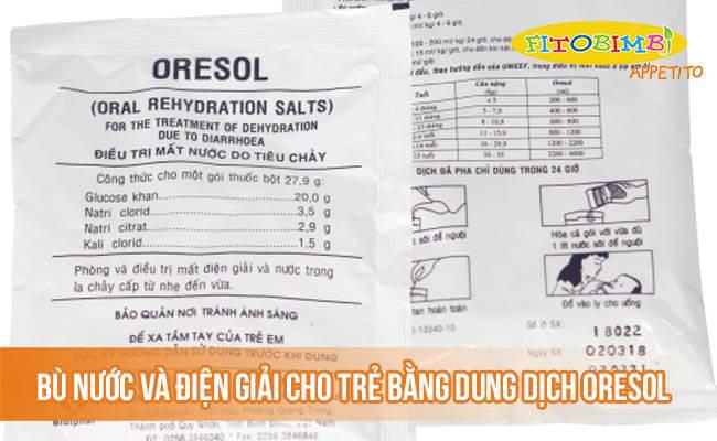 Bù nước và điện giải cho trẻ bằng dung dịch oresol