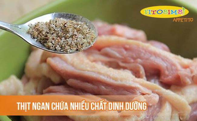 Thịt ngan chứa nhiều chất dinh dưỡng