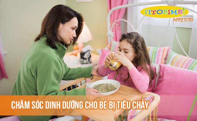Chăm sóc dinh dưỡng cho bé bị tiêu chảy