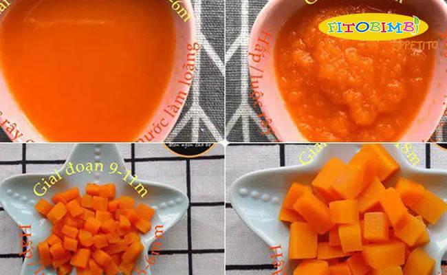 Độ thô của món ăn thay đổi theo từng giai đoạn