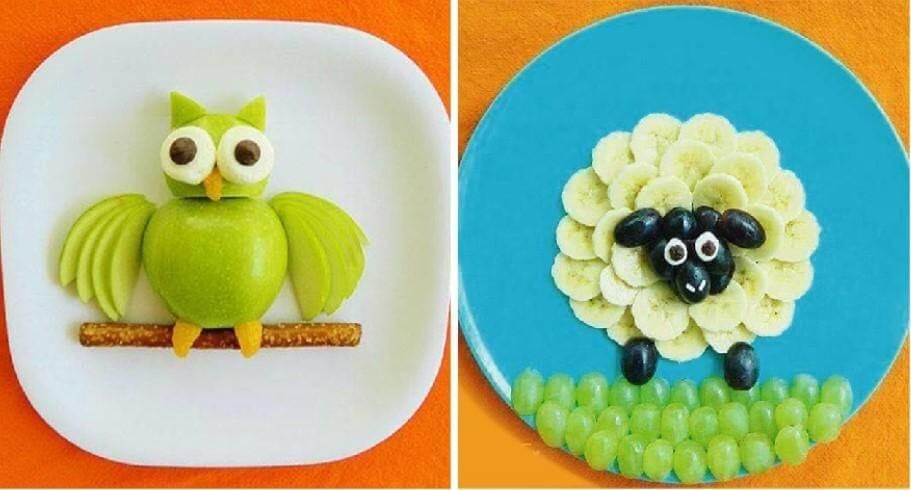 Trang trí và sắp xếp món ăn giúp trẻ hứng thú và yêu thích hoa quả hơn
