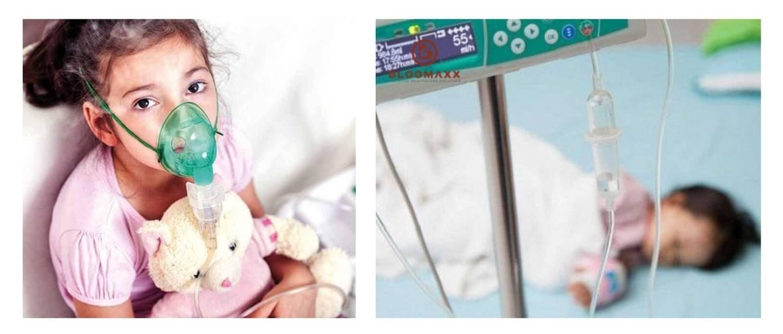 Khi bị ốm, trẻ biếng ăn có nguy cơ cao bị viêm phổi hoặc tiêu chảy nặng, phải nhập viện điều trị dài ngày