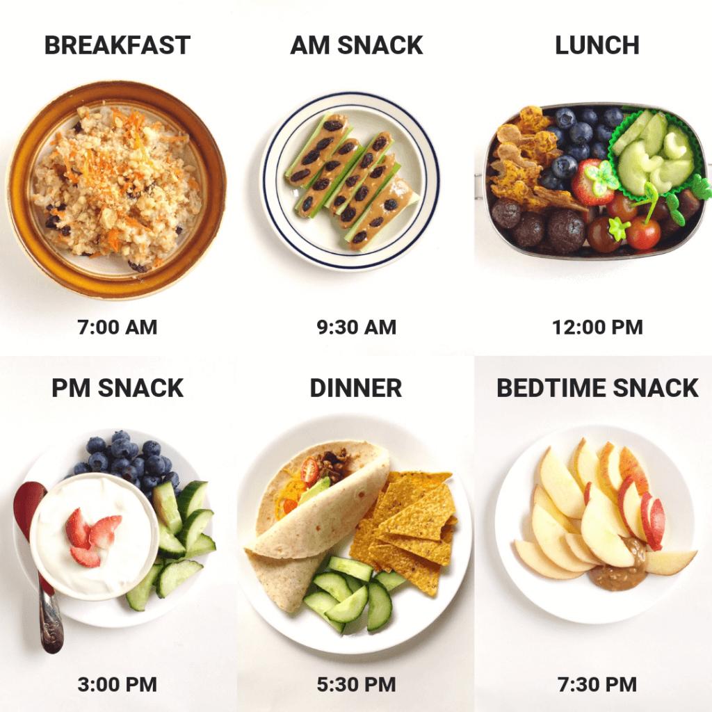 Trẻ 2 – 3 tuổi cần 3 bữa chính và 2 – 3 bữa phụ mỗi ngày