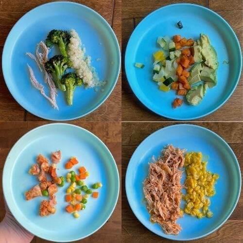 Ngoài bột xay nhuyễn, bạn có thể cho trẻ ăn dặm bằng các loại thức ăn mềm, băm hoặc xé nhỏ