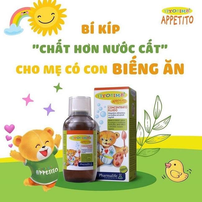 Siro Appetito không chỉ giúp bé ăn ngon, ngủ tốt mà còn dễ uống và phù hợp với trẻ em từ 6 tháng tuổi