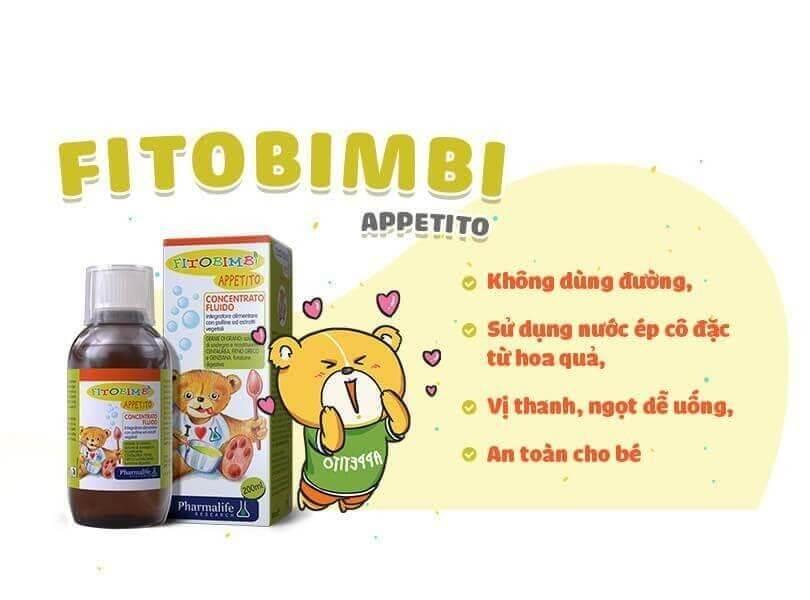 Siro Appetito vừa an toàn với trẻ em vừa hiệu quả với tác động 3 trong 1