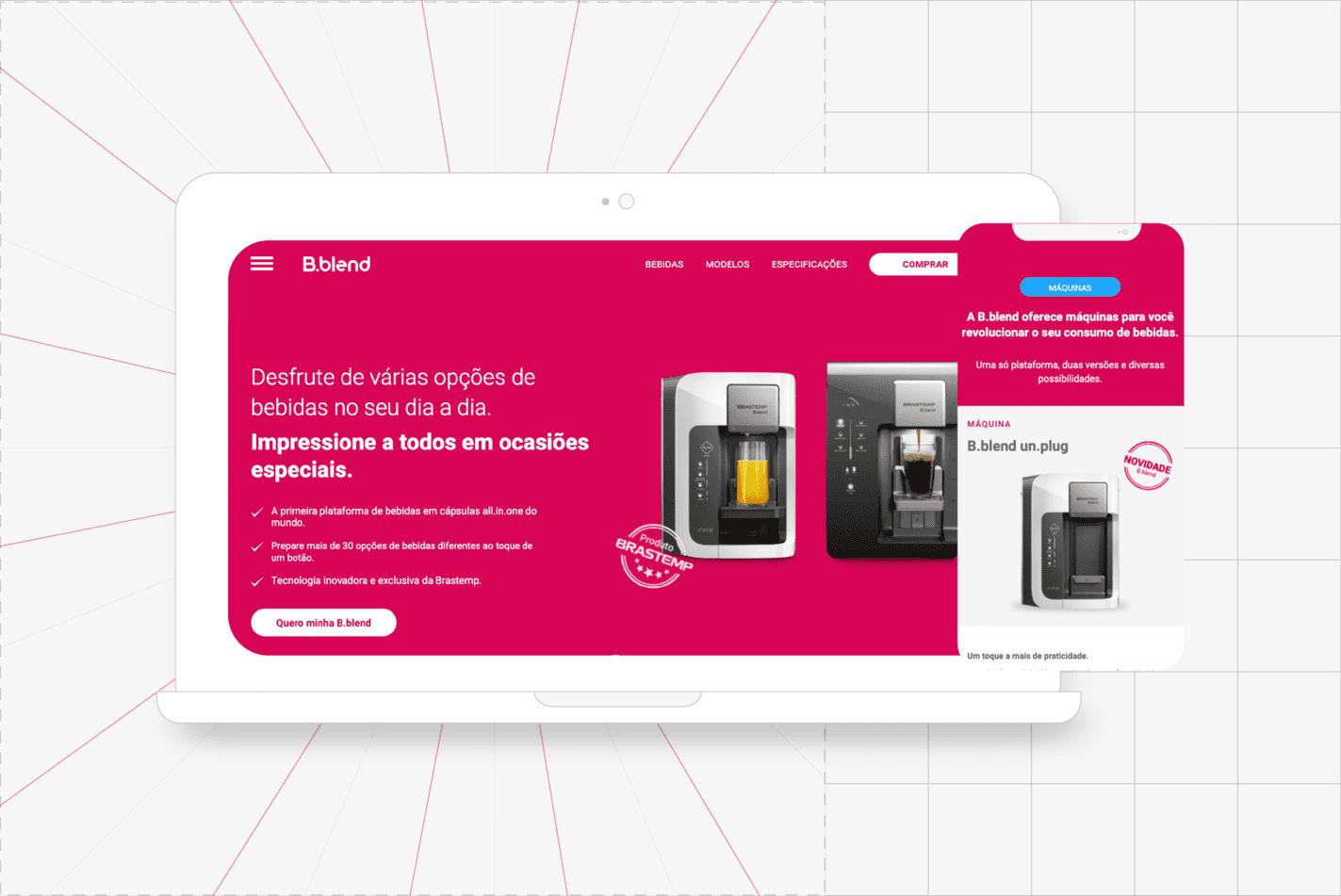 design de interface bblend pesquisa do usuário
