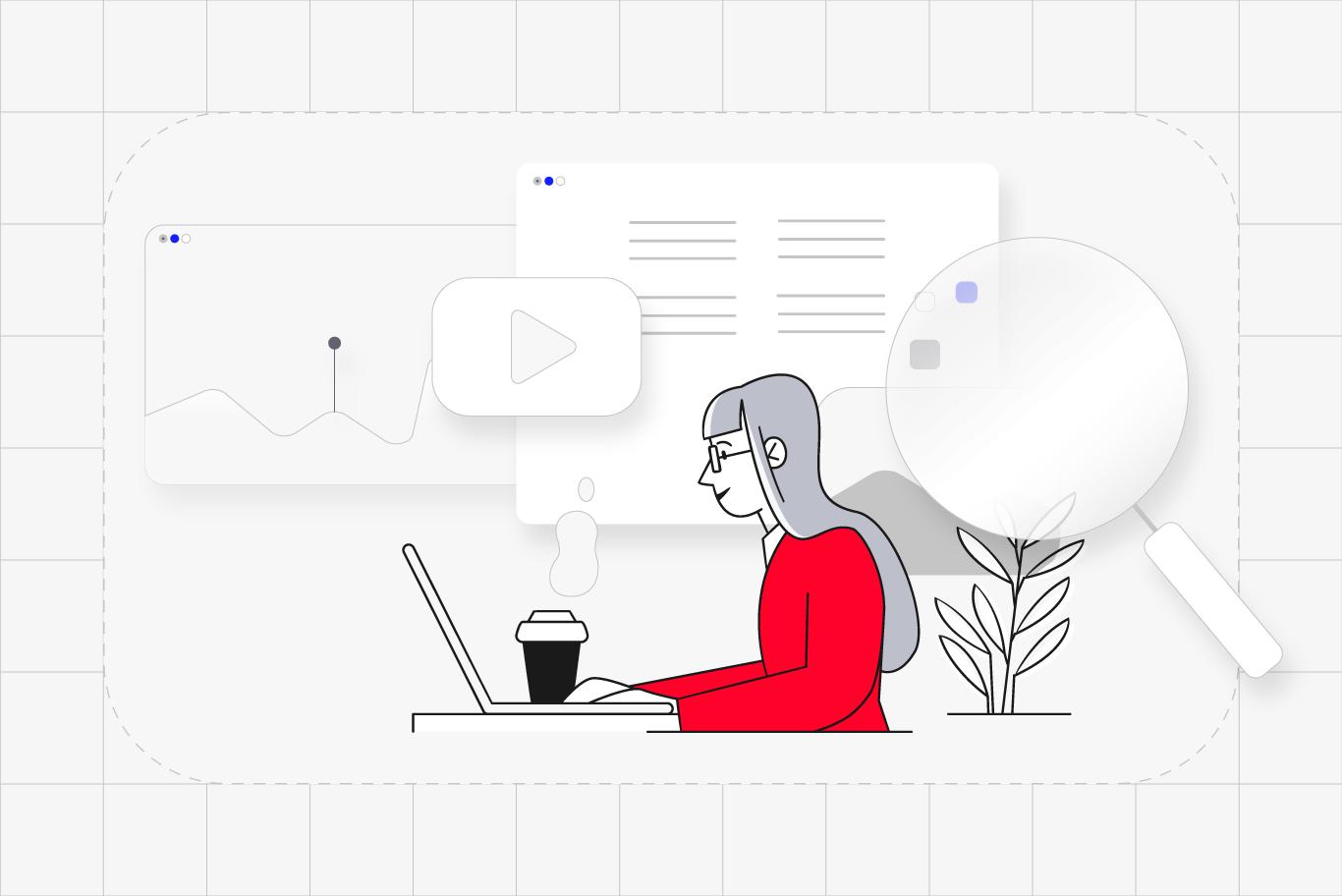 SEO ilustração usuário