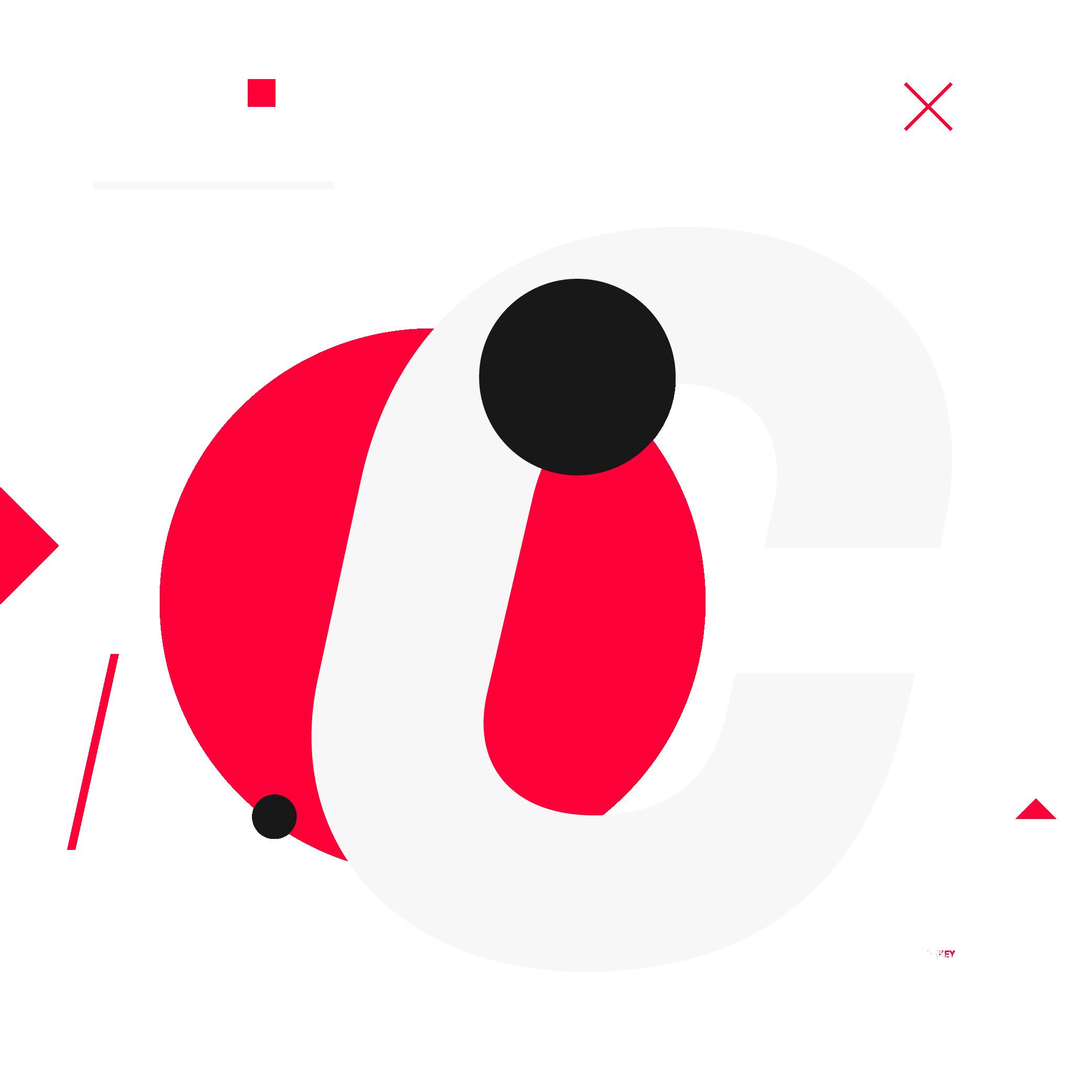 Graphic with a C representing creativit