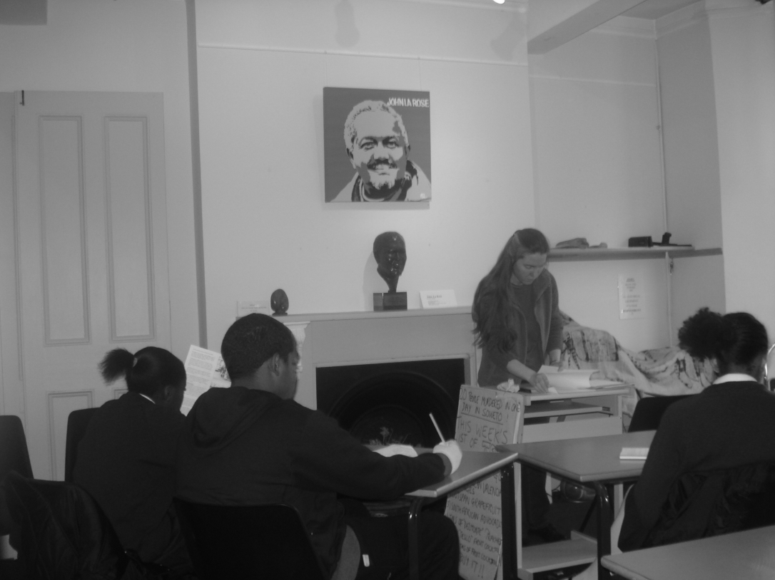 People participating in a class