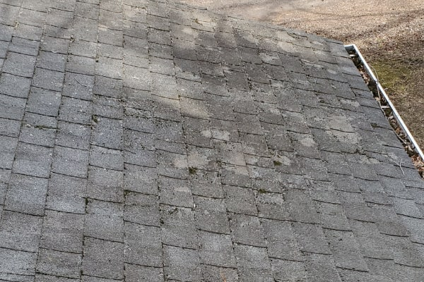 Before House Roof Cleaning