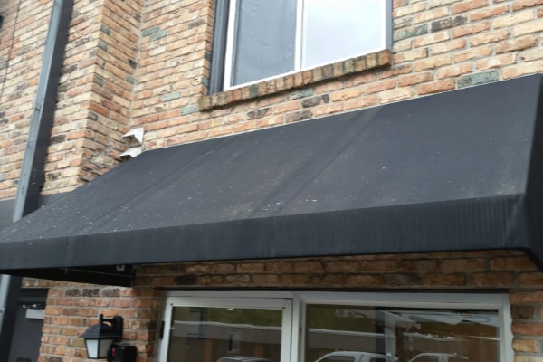 cleaning awning before