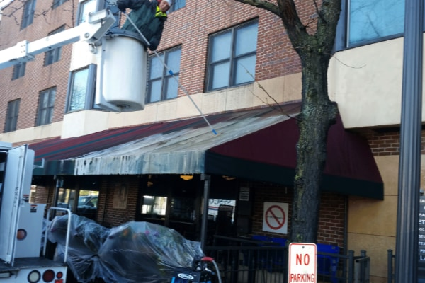 Before Commercial Awning Cleaning