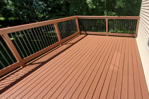 Residential Deck Cleaning Service by pressure washer