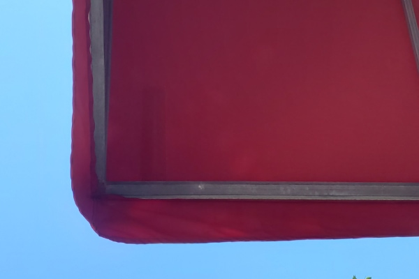 repaired tear in awning