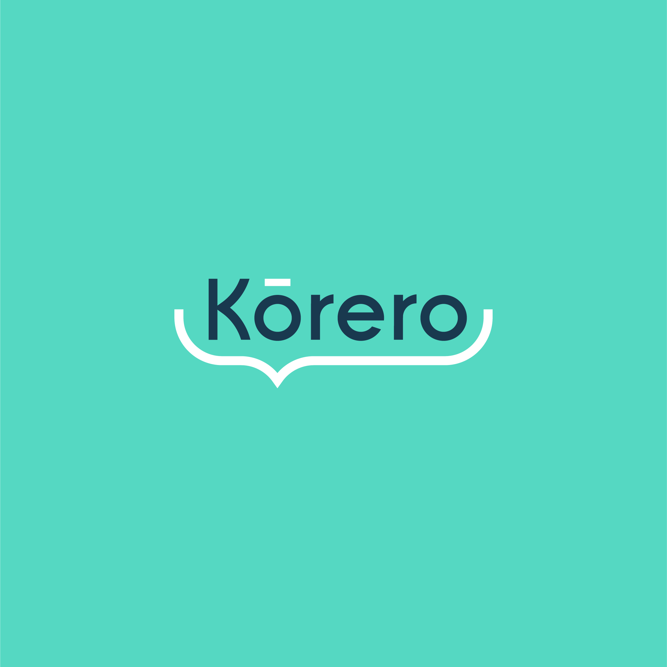 Korero logo by Ben Clark Design