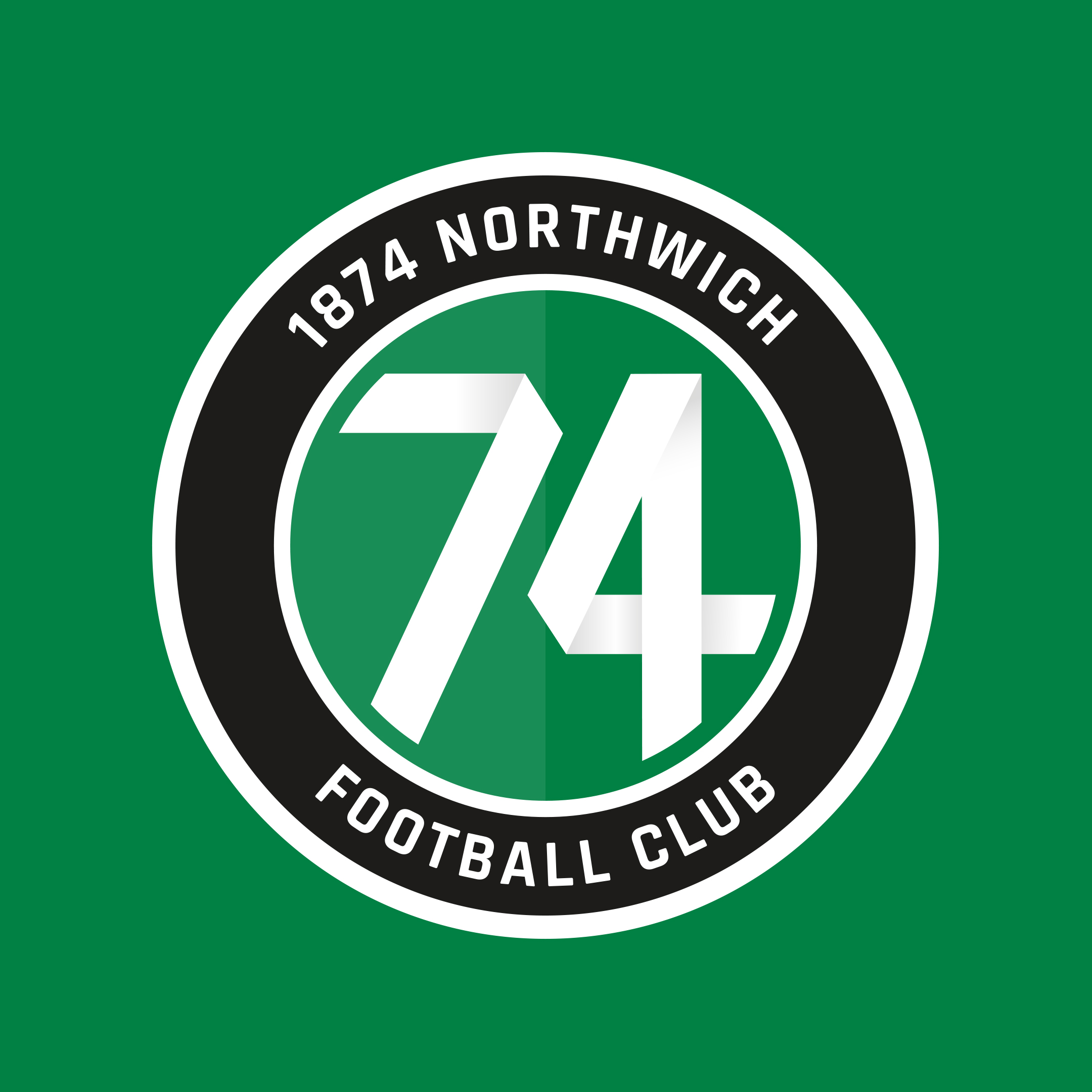 1874 Northwich crest and branding by Ben Clark Design