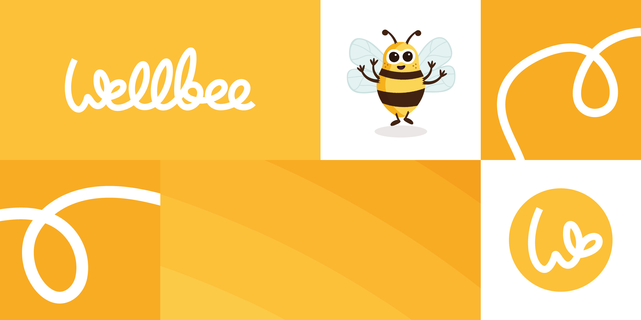 Wellbee brand design by Ben Clark Design