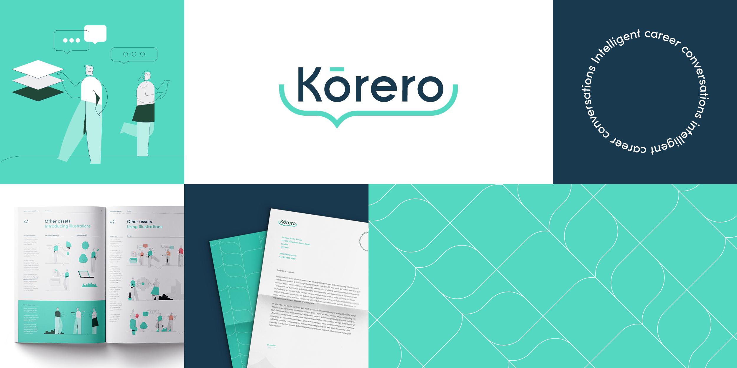 Korero brand strategy and design by Ben Clark Design
