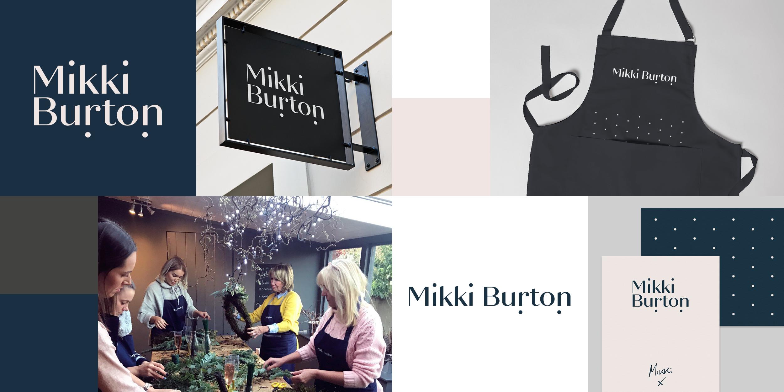 Mikki Burton branding by Ben Clark Design