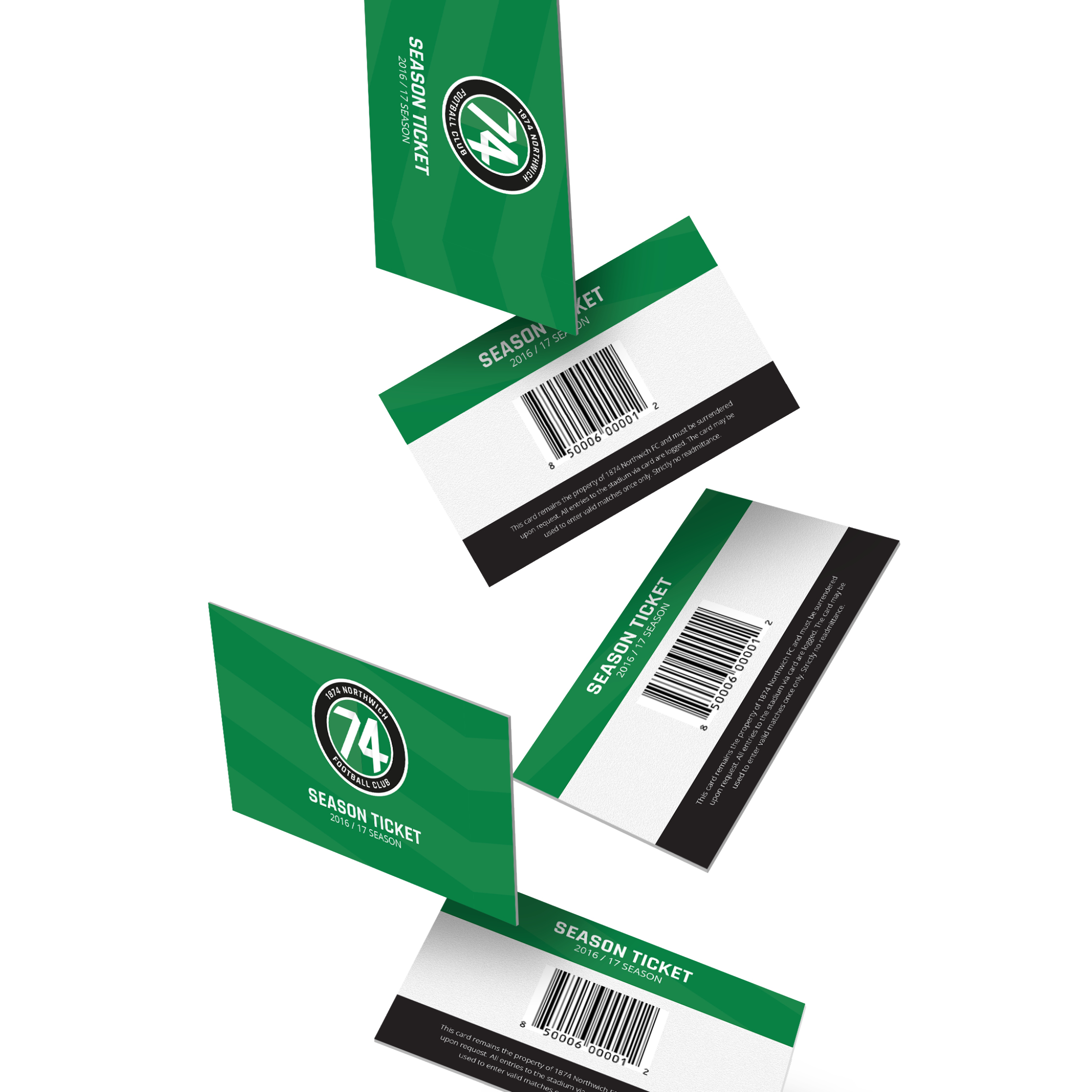 1874 Northwich Football Club season tickets by Ben Clark Design