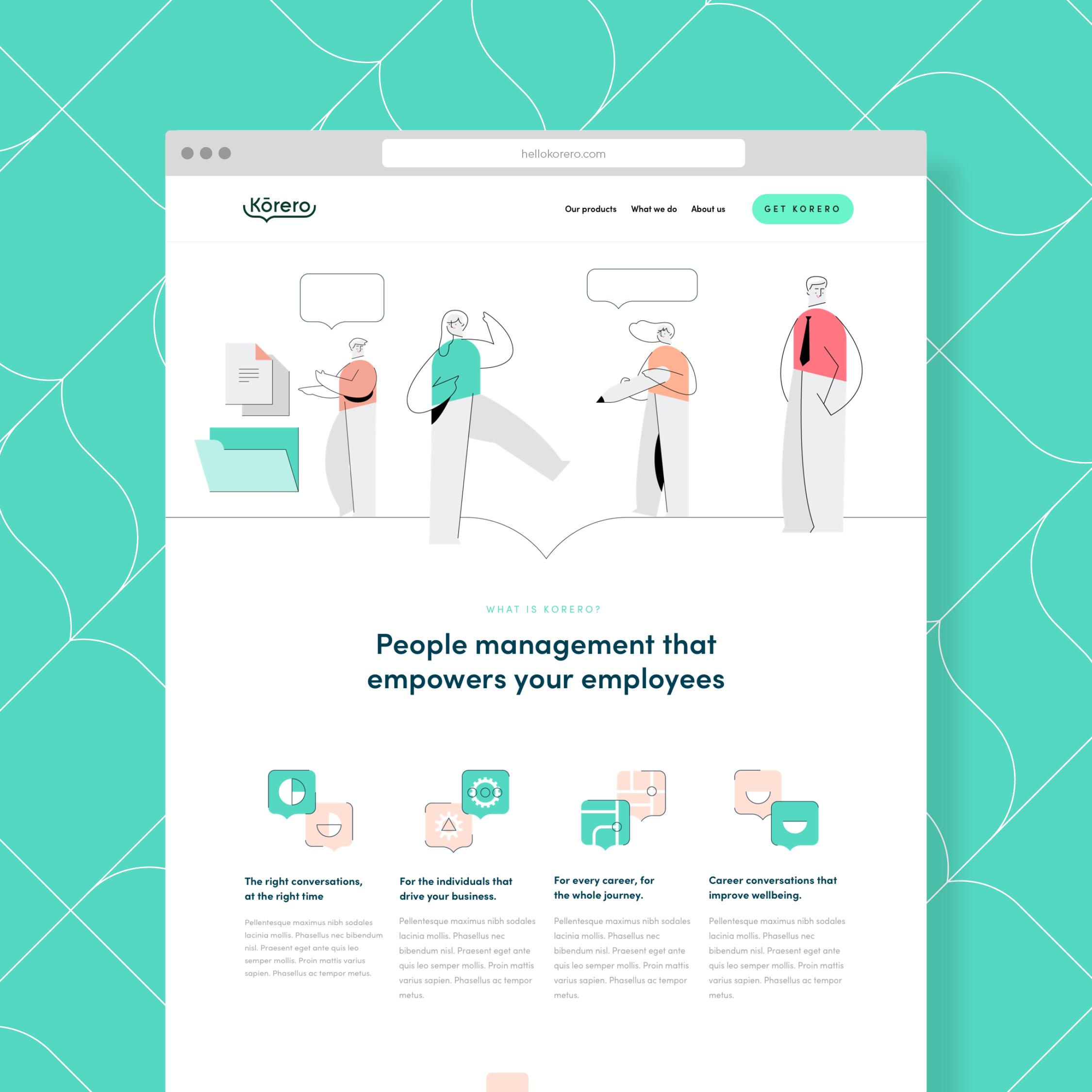 Korero website design by Ben Clark Design