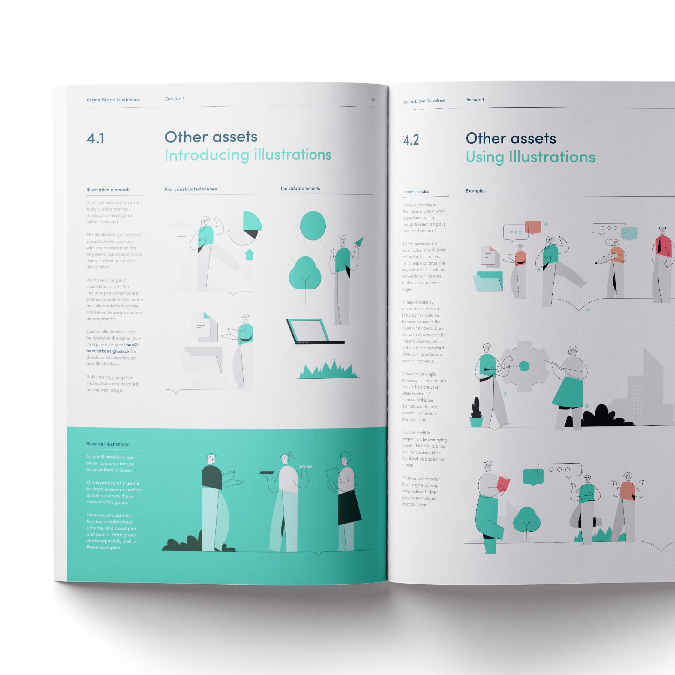 Korero brand guidelines by Ben Clark Design