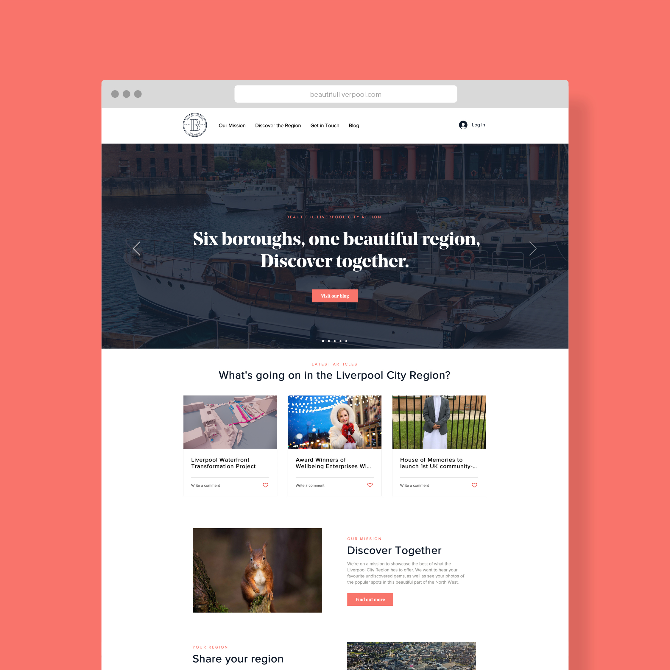 Beautiful Liverpool website design