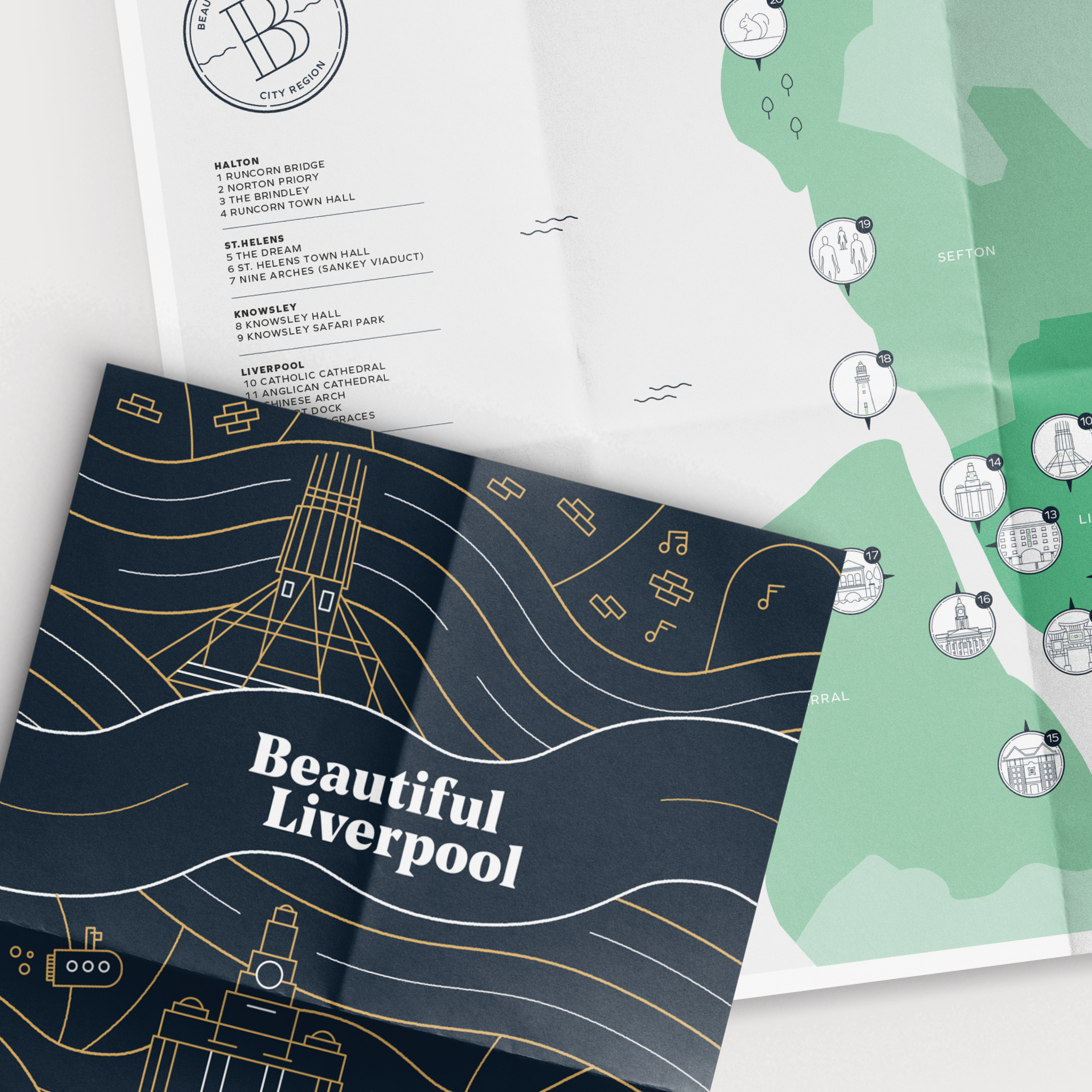 Beautiful Liverpool map design