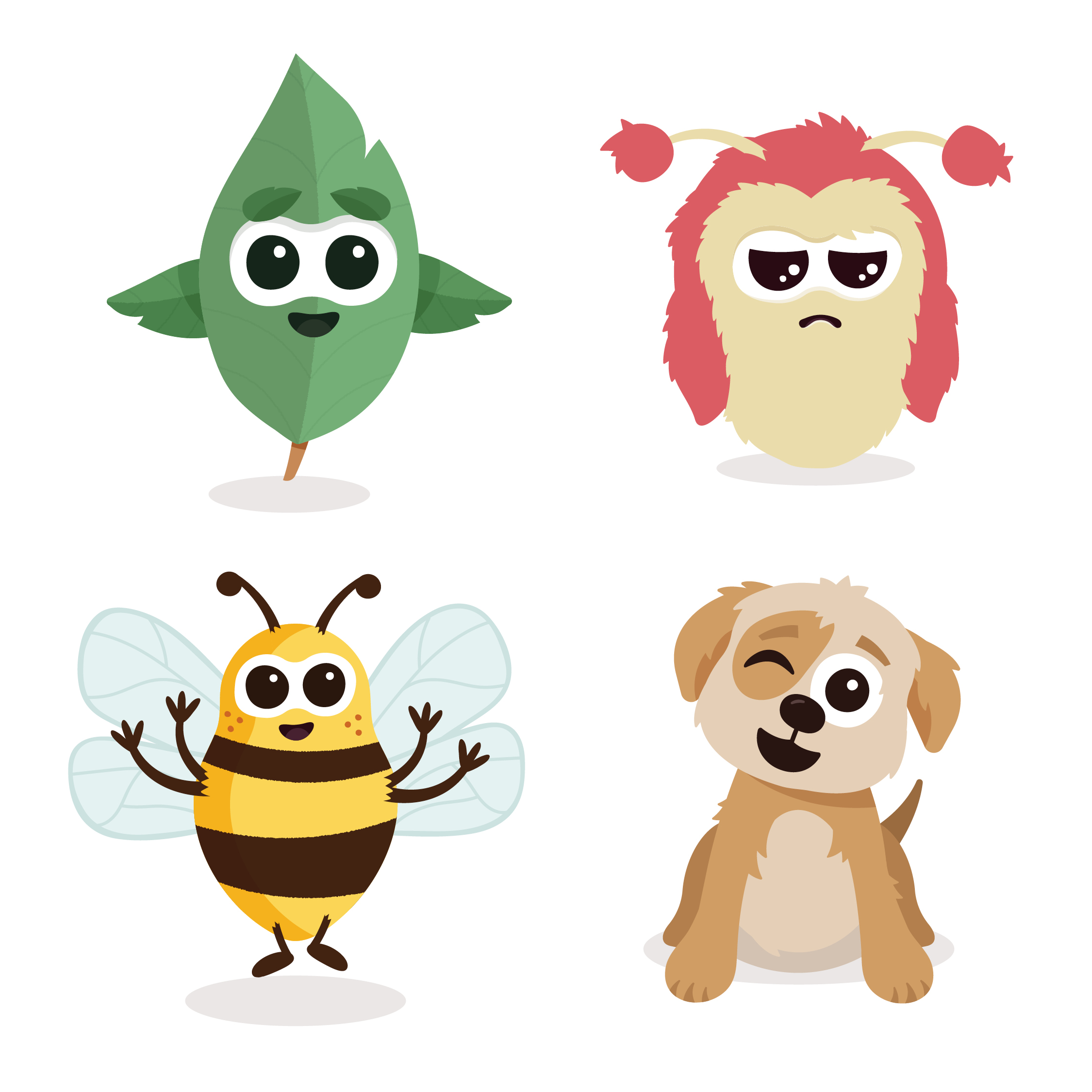 Wellbee character illustrations by Ben Clark Design