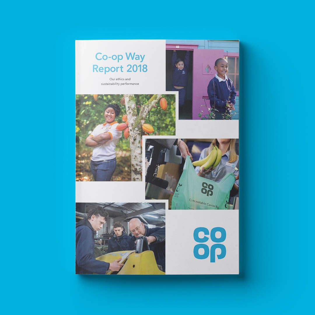 Cover of the Co-op Way Sustainability report
