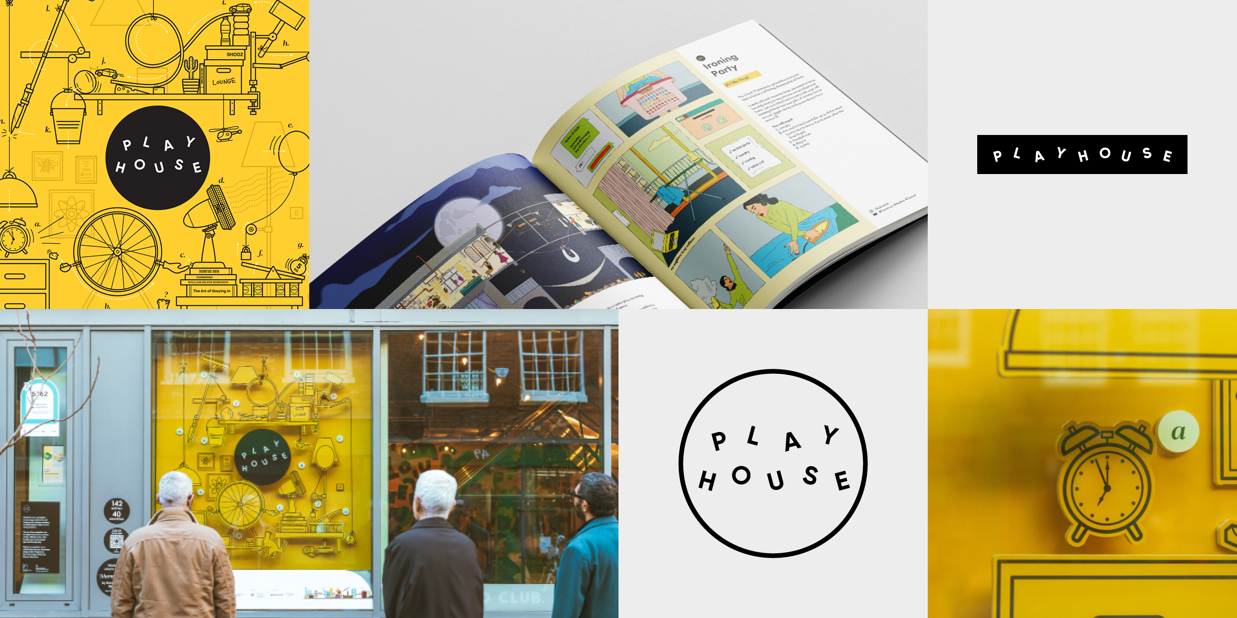 Playhouse competition branding by Ben Clark Design