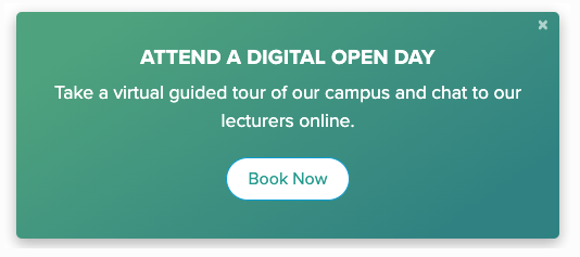 Digital Open Days – where is best to place your booking call to action?