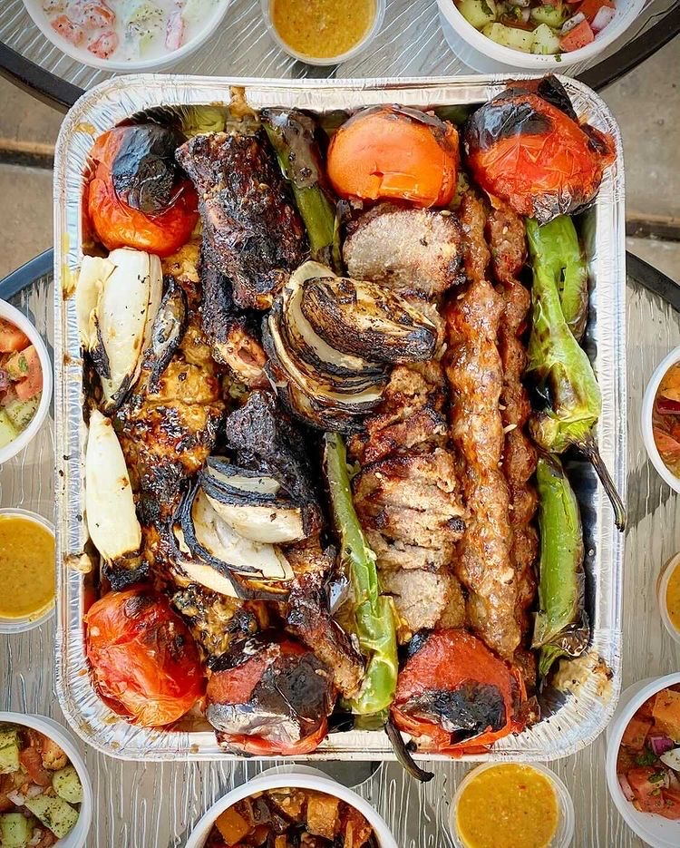 Kabob Grill N' Go catering platter