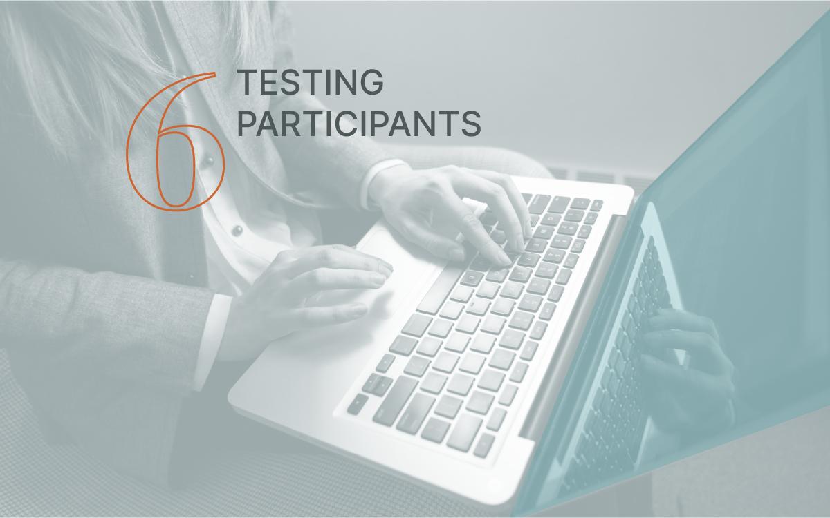 testing participants