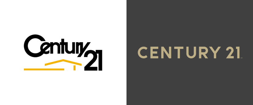 Century 21 Before and After Logo. Source:  Brand New