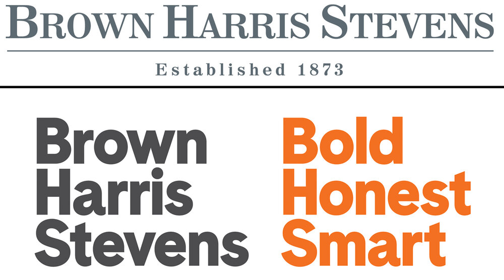 Brown Harris Stevens Before and After Logo. Source:  The Real Deal