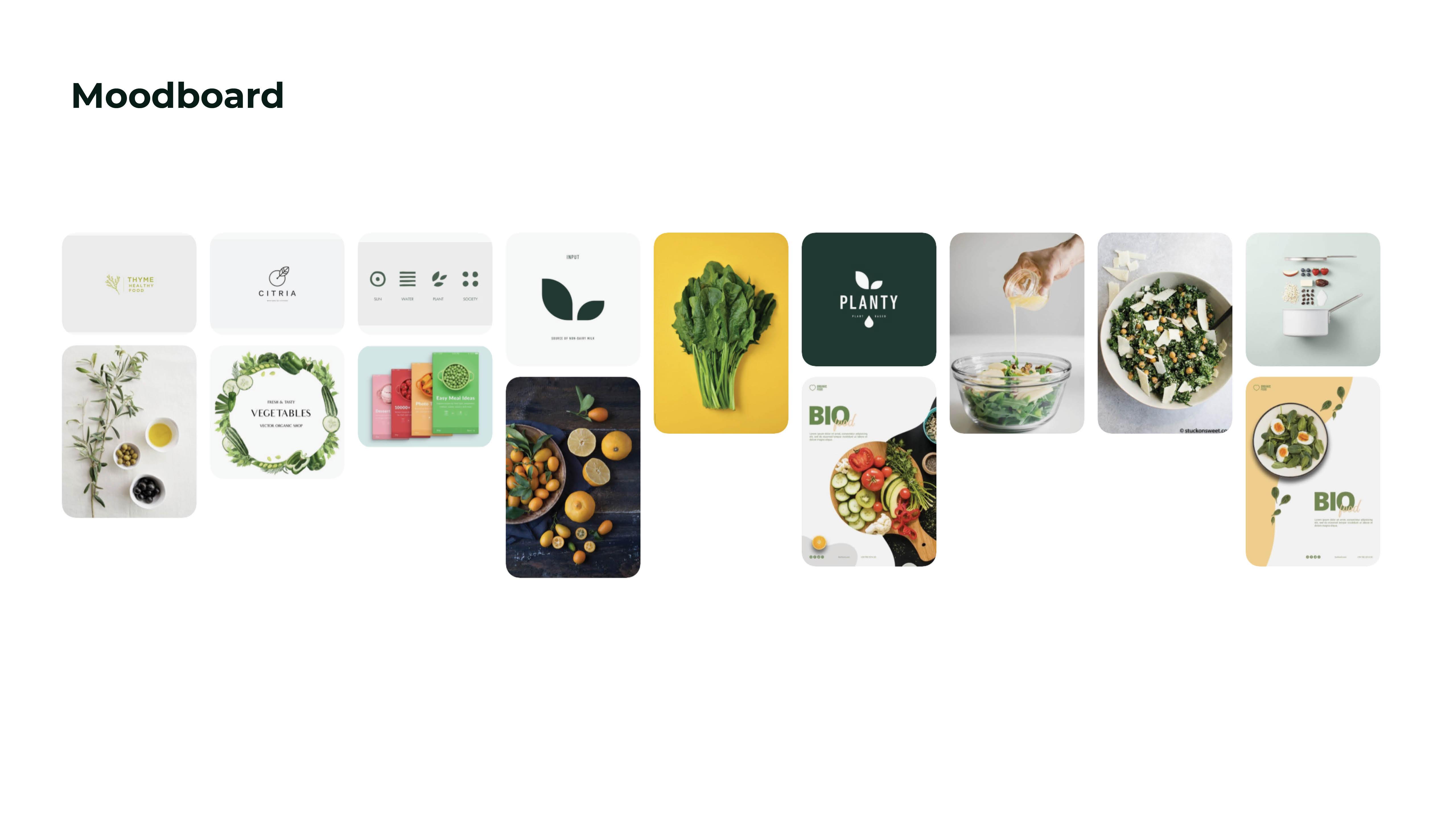 Salad bar mood board