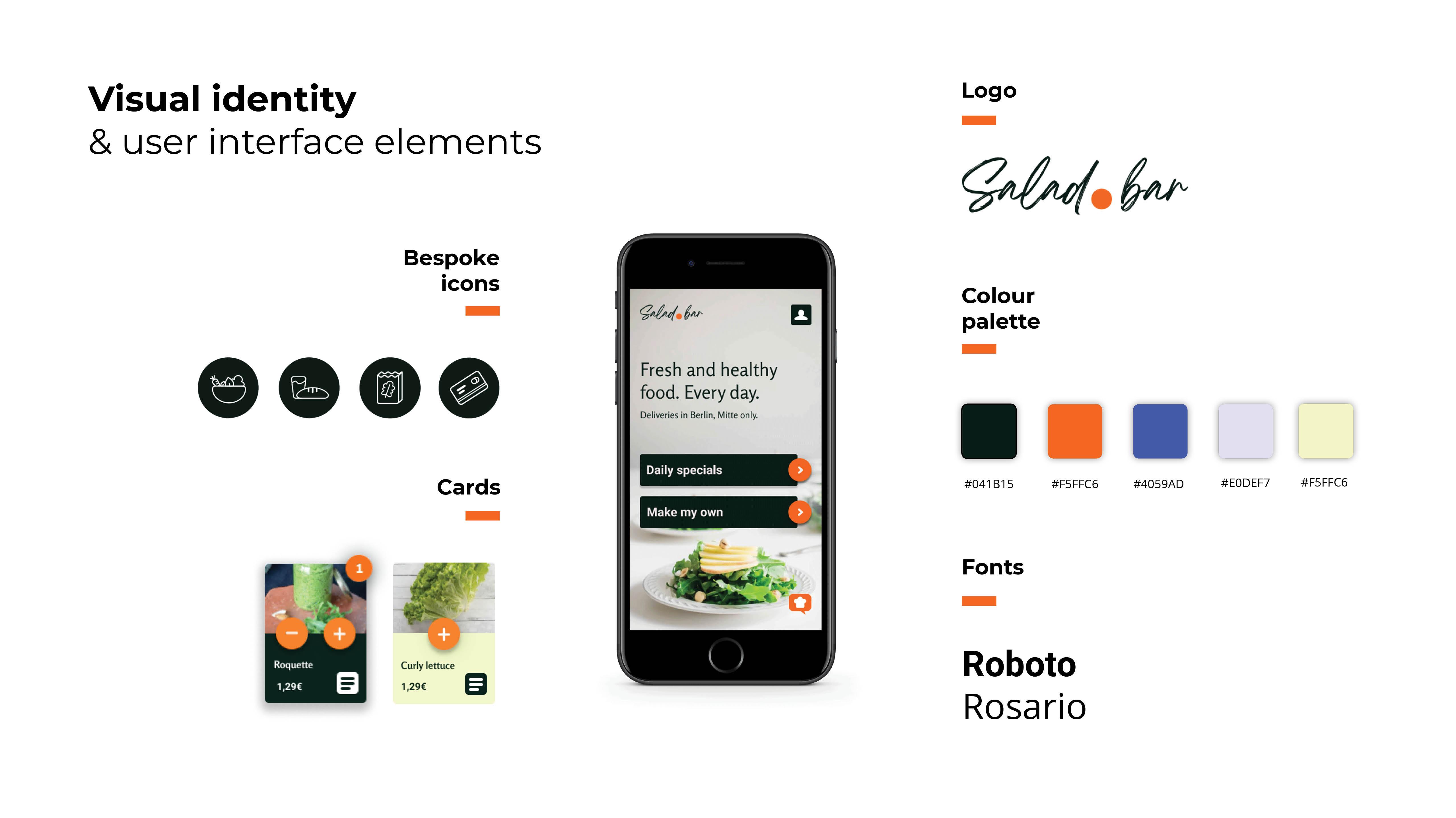 Salad bar visual identity