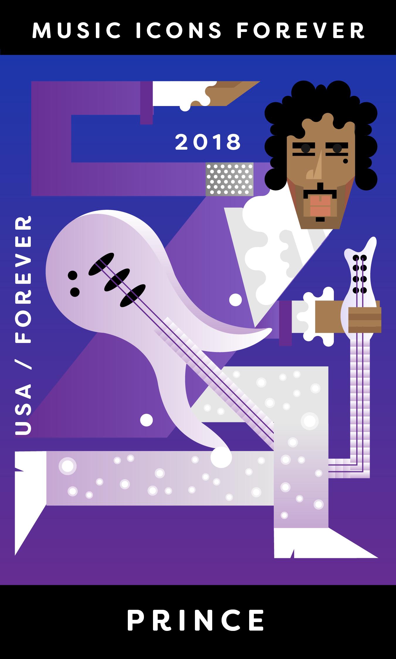 Prince Stamp Illustration
