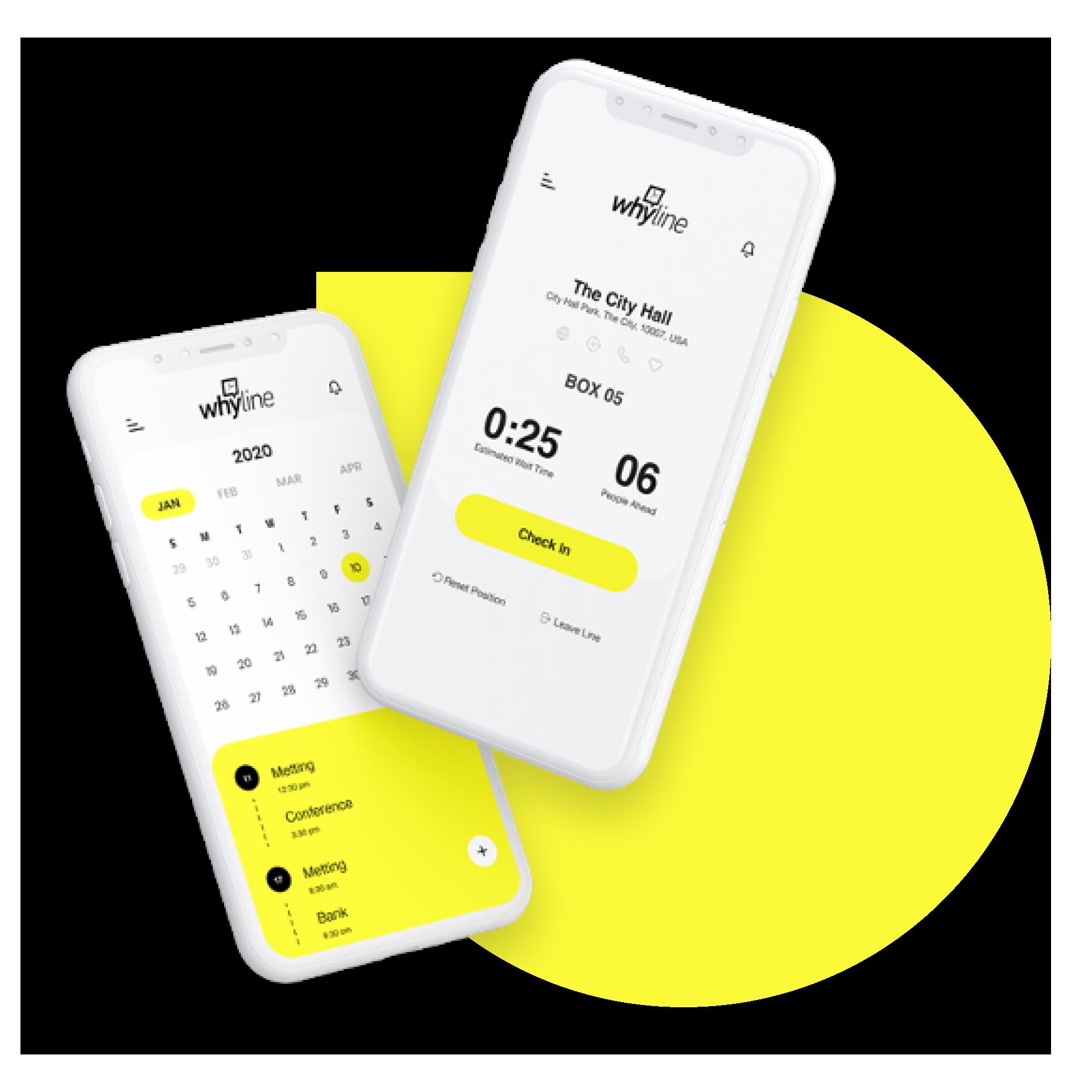 Whyline app phones