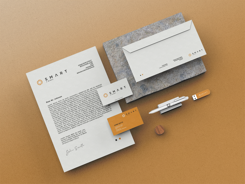 Corporate identity for Aeolus Smart Fleet Solutions in orange colors